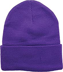 True Gear Cold Weather Beanie Ski Cap (Purple)