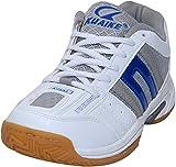Kuaike Boys' White & Blue PU Badminton Shoes - 5 Uk