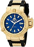 Invicta Subaqua Men's Quartz Watch with Blue Dial  Analogue display on Black Plastic Strap 1150