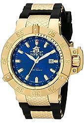 Invicta Men's 1150 Subaqua Noma III GMT Blue Dial Black Polyurethane Watch