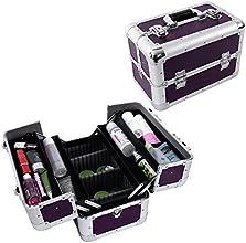 Songmics 14quot Aluminum Beauty Makeup Train Case Cosmetic Jewelry Storage Organizer Box UJBC228P