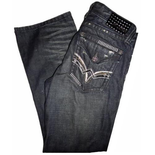 Men's Affliction Jeans Los Angeles Unfinished Black