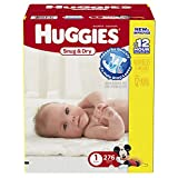 Huggies Economy Plus Pack Snug and Dry Diapers, Size 1, 276 Count