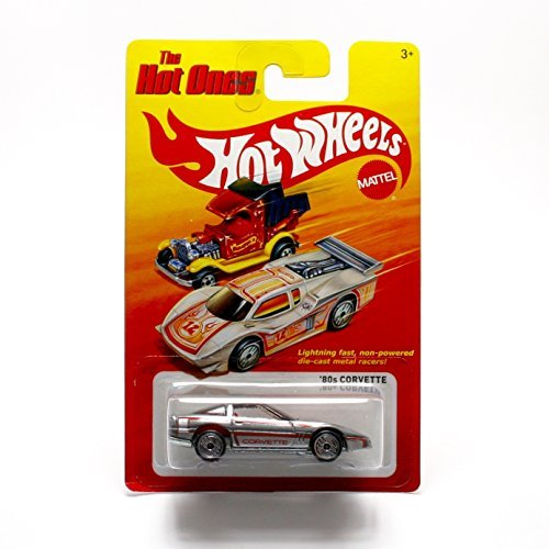 '80 CORVETTE (SILVER) * The Hot Ones * 2011 Release of the 80's Classic Series - 1:64 Scale Throw Back HOT WHEELS Die-Cast Vehicle