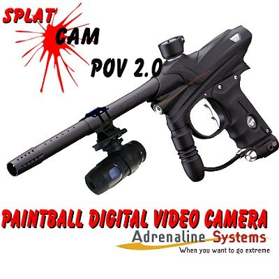Splat Cam POV 2.0 Paintball Cam &#8211; Barrel Mounted Digitial Recording Camera. DVR for use with SD Cards . Fogproof Lens