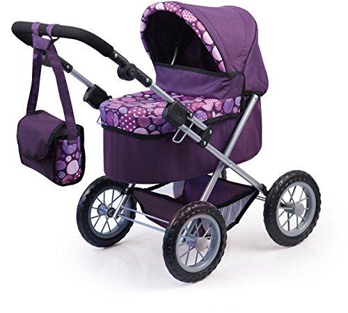 bayer-design-1309400-carrito-de-munecas-trendy-ciruela-para-munecas-46-cm
