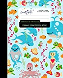 img - for Primary Composition Book - Dolphins & Mermaids: Kids School Exercise Book with Turtles, Fish & Octopuses [ Times Tables * Wide Ruled * Large Notebook ... ] (Primary Composition Books: Kids 'n' Teens) book / textbook / text book