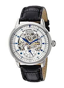 Stuhrling Original Men's 133.33152 Executive Automatic Skeleton Silver Dial Watch