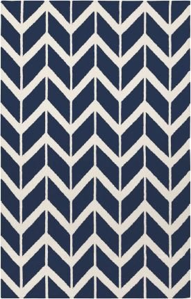 2' x 3' Rectangular Surya Accent Rug by Jill Rosenwald FAL1093-23 Dark Blue Color Flatwoven in India