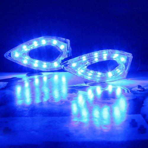 Vktech Led Turn Signals Amber Blinker Indicator Lights Motorcycle Light Color Blue