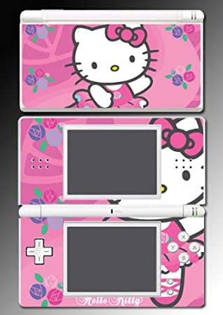 Hello Kitty Pink Cute Princess game Vinyl Decal Cover Skin Protector #7 for Nintendo DS Lite