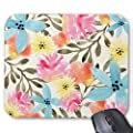 Paradise Floral Print Mouse Pad - Stylish, durable office accessory and gift