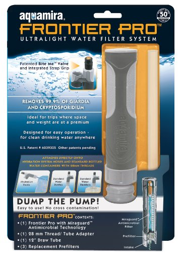 Aquamira Frontier Pro Ultralight Water Filter