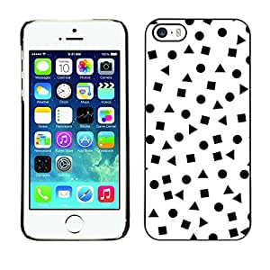 Omega Covers - Snap on Hard Back Case Cover Shell FOR Apple iPhone 5 / 5S - White Shapes Pattern Math