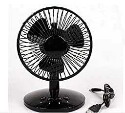 Can shifting gear Electric Portable Office desk USB Mini Fan Cooler 8Inch white