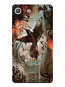 TREECASE Designer Printed Hard Back Case Cover For Sony Xperia M5