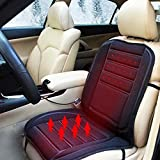 Lemonbest® Black 12V Car Heated Seat Cushion With 3 Way Temperature Controller