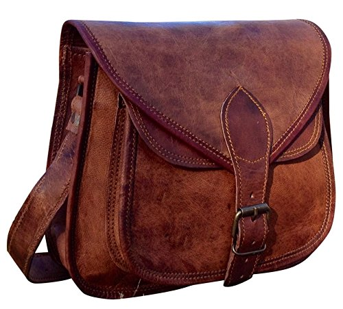 RARE HANDMADE DESIGNER REAL LEATHER SATCHEL SADDLE