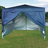 Quictent Brand New 10'x10' (3x3m) Heavy Duty Pop Up Canopy Party Tent High Specification W/ Carry Bag Navy Blue