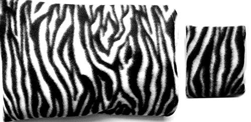 ***Fleece Zebra Stripe Gift Set*** Microwaveable Heating Pad With Machine Washable Sleeve And Matching Handybag Mini