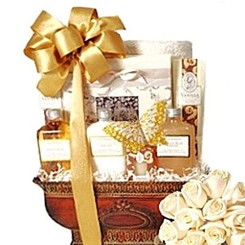 Vanilla in Venice Bath & Body Spa Basket for Women - Christmas Holiday Gift Idea for Her