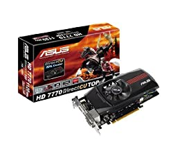 ASUS 1120 MHz Overclock 20% Cooler DIGI+ VRM Technology Graphics Cards HD7770-DCT-1GD5