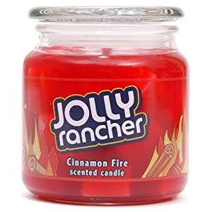 Hershey's by Hanna's Candle Company 00102197 Jolly Rancher Fire Jelly Jar Candle, 14.75-Ounce, Cinnamon