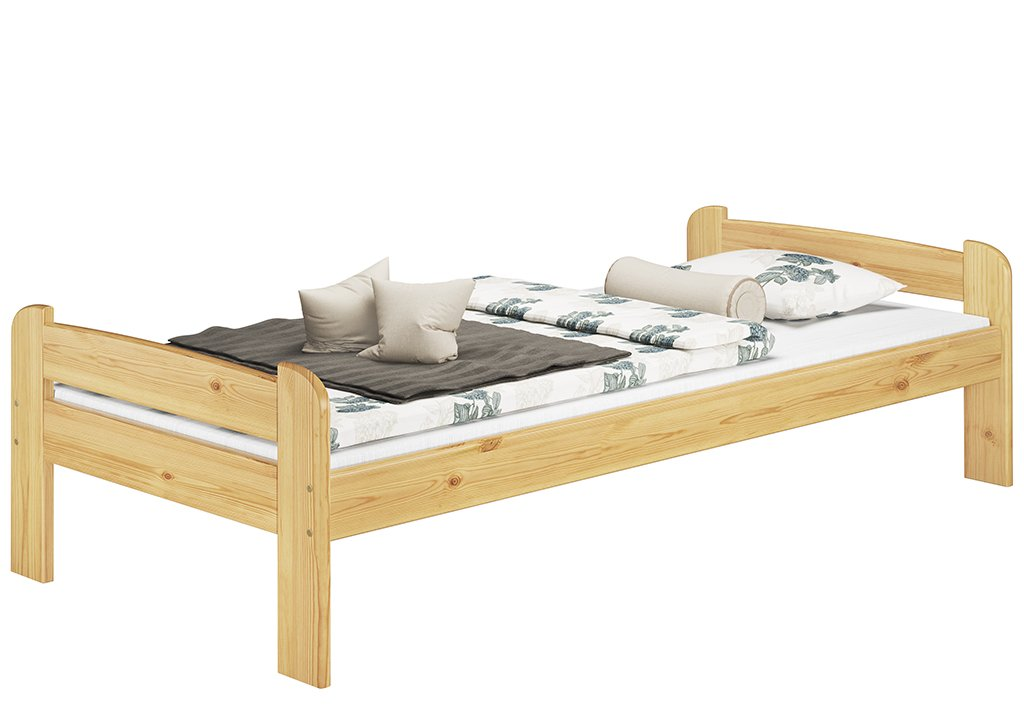 60.39-09 Bett 90×200 cm Kiefer massiv mit Rollrost günstig
