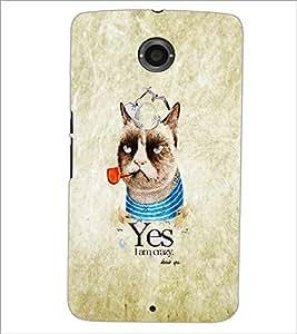 PrintDhaba Funny image D-4628 Back Case Cover for MOTOROLA GOOGLE NEXUS 6 (Multi-Coloured)