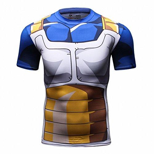 Cody Lundin cime degli uomini digitale stampata stretto manica corta camicia sport outdoor uomo fitness stile t-shirt (L)