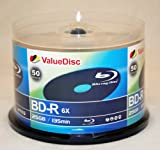 Value Disc BD-R 6X 25GB Blu-Ray 50 Pack Blank Discs in Spindle. Made in Taiwan