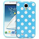 Fosmon DURA Series SLIM-Fit Case Protective Skin Cover for Samsung Galaxy S IV S4 SIV / I9500 - Polka Dots (Blue)