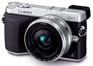 Panasonic ミラーレス一眼カメラ ルミックス GX7 レンズキット 単焦点レンズ付属 シルバー DMC-GX7C-S