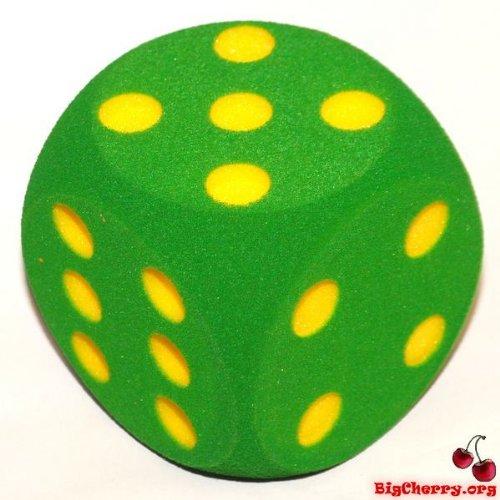 big-cherry-giant-dice-one-16cm-160mm-giant-foam-die-in-green-by-bigcherry