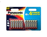Panasonic Xtreme Power Aaa/lr03 Battery 12 Pack 8+4 Free