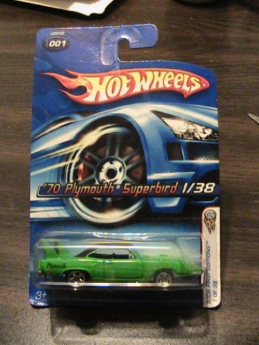 Hot Wheels 2006 First Edition 1/38 Green '70 Plymouth Superbird Collector # 001