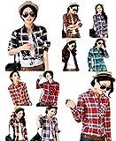 【ARINCO】 カジュアル チェック デザイン シャツ レディース 春 夏 マスト アイテム 選べる 7サイズ 8カラー