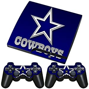 meestick dallas cowboys vinyl adhesive decal skin for playstation slim video games. Black Bedroom Furniture Sets. Home Design Ideas