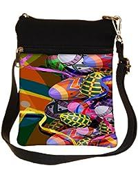 Snoogg Designer Eggs 2474 Cross Body Tote Bag / Shoulder Sling Carry Bag