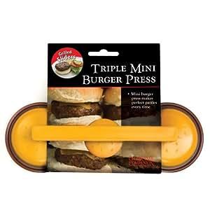 "Charcoal Companion Mini Burger ""Slider"" Triple Patty Press"