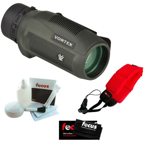 Vortex Optics S136 Solo 10X36 Monocular + Micro Fiber Cleaning Cloth + Cleaning And Care Kit + Floating Foam Strap Red