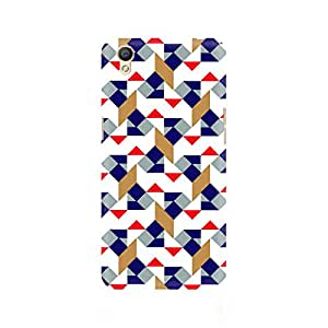 Ebby Checked Square Premium Printed Case For Oppo A37