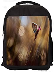 """Snoogg Abstract Butterfly Casual Laptop Backpak Fits All 15 - 15.6"""" Inch Laptops"""
