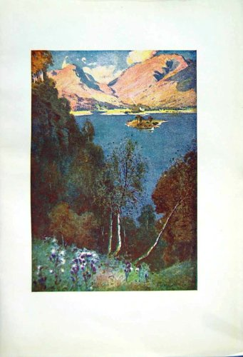 1908 English Lakes Grasmere Trees Hills Cooper Colour