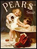 Pears Soap - Puppy Bath Time - Mini Metal Wall Sign