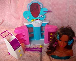 Barbie Styling Bust and Hair Saloon Accessories Toy