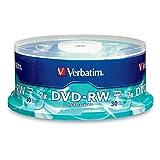 Verbatim 4.7 GB 2X Branded DVD-RW (30pk Spindle) 95179