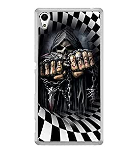 ifasho Scary Faces game over Back Case Cover for Sony Xperia M4 Aqua