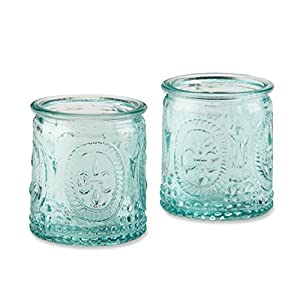 Baby Aspen Vintage Blue Glass Tealight Holder (Set of 4)