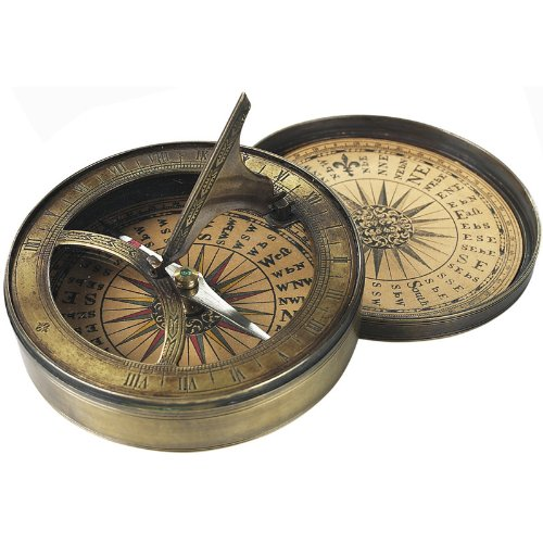 Authentic Models Compass Reproductions From 18th Century Sundial Compass Combination